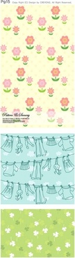 lovely background series vector 2