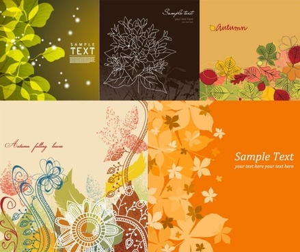 lovely background vector flowers and plants