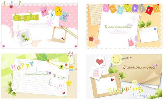 lovely border background vector