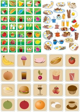 lovely breakfast food icon vector