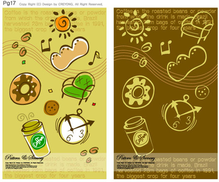 lovely child elements background 4 vector graphic