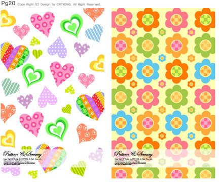 lovely child elements background 6 vector graphic