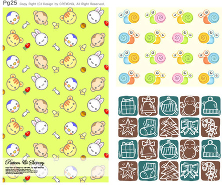 lovely child elements background vector graphic