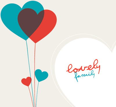 lovely family vector graphic