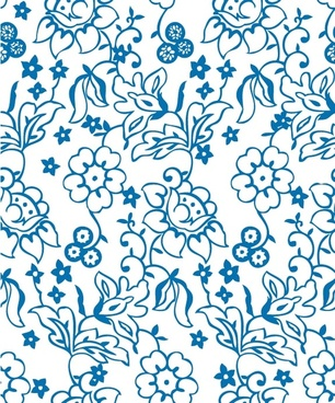 lovely flower pattern background vector lines