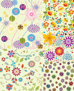 lovely flowers backgrounds vector graphic