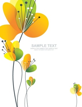 flowers background card colorful decoration