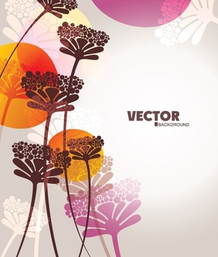 flowers background colorful vignette style decoration