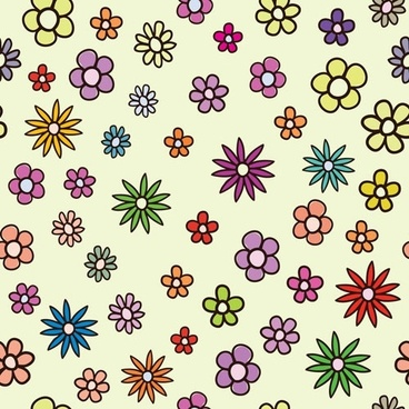 lovely flowers vector background 1