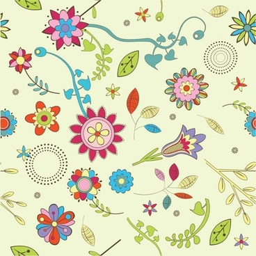 lovely flowers vector background 3
