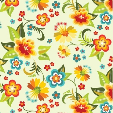 lovely flowers vector background 4
