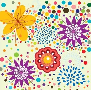 lovely flowers vector background 5