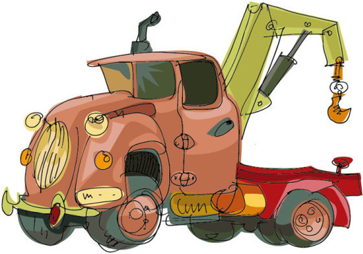 lovely hand draw cartoon car vector set