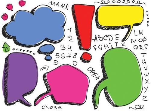 lovely handdrawn dialogue bubble vector 1