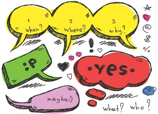 lovely handdrawn dialogue bubble vector 5