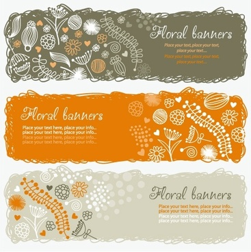 lovely handpainted style pattern vector