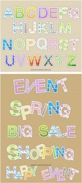 lovely letter pattern vector
