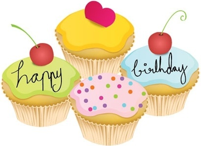Lovely Little Birthday Cake Vector