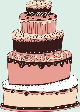 lovely multilayered cake vector