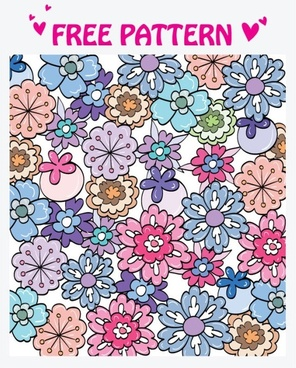 lovely pattern vector 4