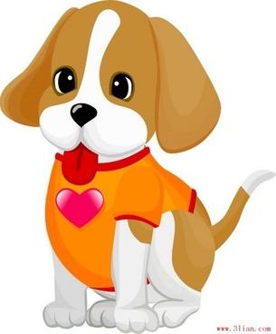 lovely pet dog vector