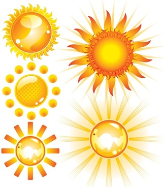 lovely sun vector