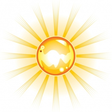 sun background shiny dynamic design yellow rays decor