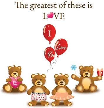Lovely Teddy Bear Vector Graphic