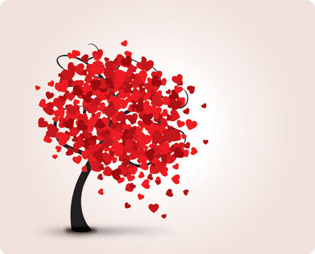lovely tree vector graphic