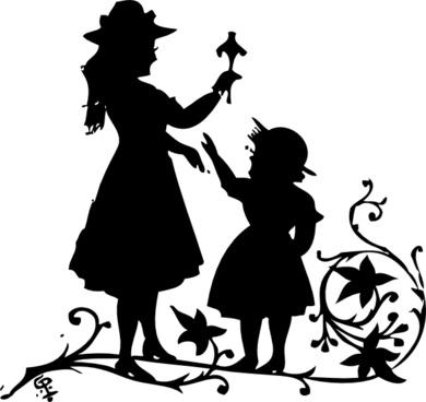 Loving Children clip art