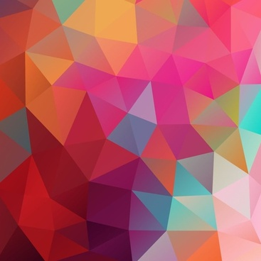 low poly colored background vector illustration