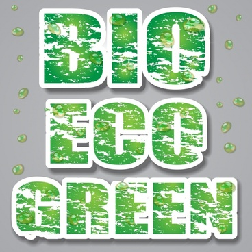 lowcarbon green theme label banner vector