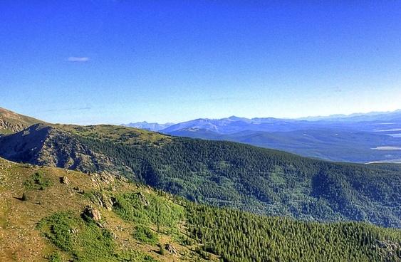 lower mountains at mount elbert colorado