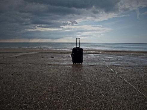 luggage on holiday