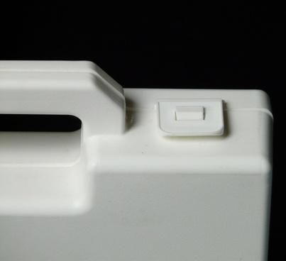 luggage small white