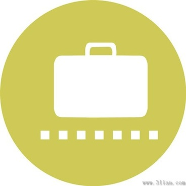 luggage vector icons
