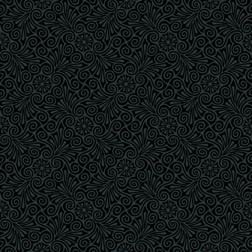 luxurious black damask patterns vector