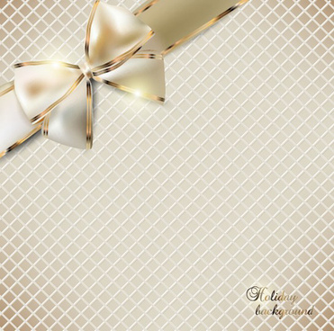 luxurious cards with bows design vector set