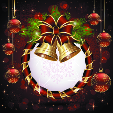 luxurious christmas new year baubles vector background