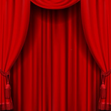 luxurious curtains colored vector