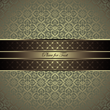 luxurious damask patterns background