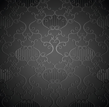 luxurious floral pattern vector set