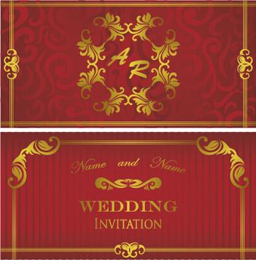 Floral wedding invitation background free vector download 50580 luxurious floral wedding invitations vector design stopboris Choice Image