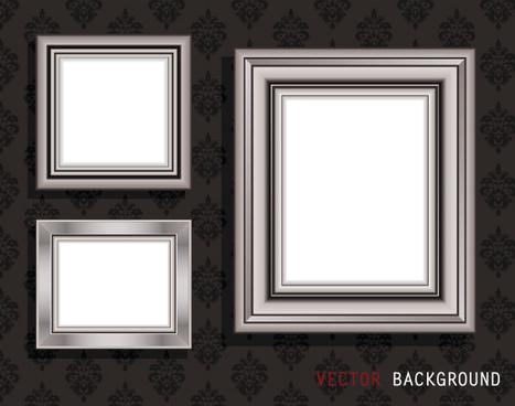 luxurious frame background art vector