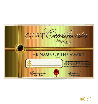 Free vector gift certificate border free vector download 8624 free luxurious gift certificate golden template vector yelopaper Gallery