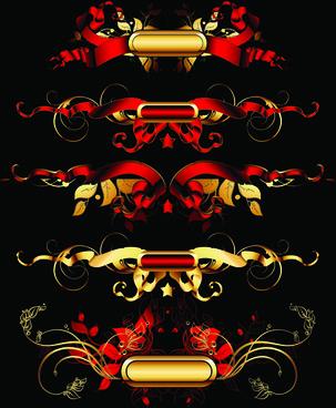 luxurious gold design elements vector labels