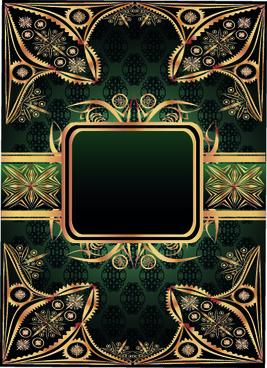 luxurious gold frame vector set
