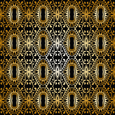 luxurious gold pattern seamless vector background