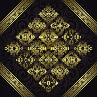 luxurious golden vintage patterns background