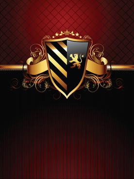 luxurious of heraldic shield design vector
